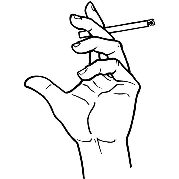 Hand holding a cigarette vinyl sticker. Customize on line. Hands... ❤ liked on Polyvore featuring pics, doll parts and filler