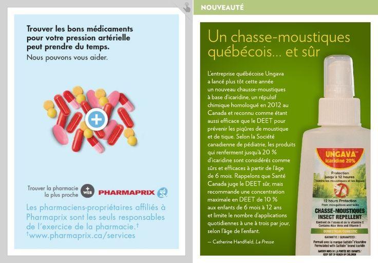 L'entreprise québécoise Ungava  a lancé plus tôt cette année  un nouveau chausse-moustiques  à base d'icaridine, un répulsif chimique homologué en 2012 au Canada et reconnu comme étant aussi efficace que le DEET pour prévenir les piqûres de moustique  et de tique. Selon la Société canadienne&hel