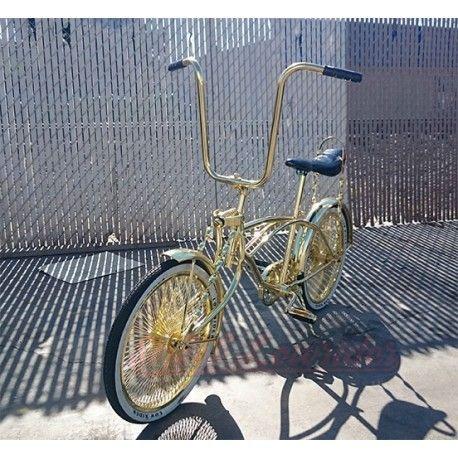 """20"""" Flashie Lowrider Bike All Gold"""