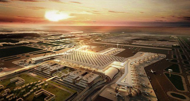 Istanbul Airport City to draw investments worth 6 billion euros / Istanbul Grand Airport company, which is building the world's largest airport to be opened in 2018, is preparing to build a trade center with an investment worth 6 billion euros located near Istanbul's third airport...