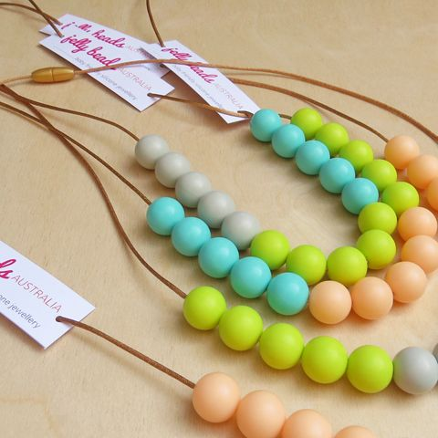 Spring Colours Range - Silicone Beaded Necklaces