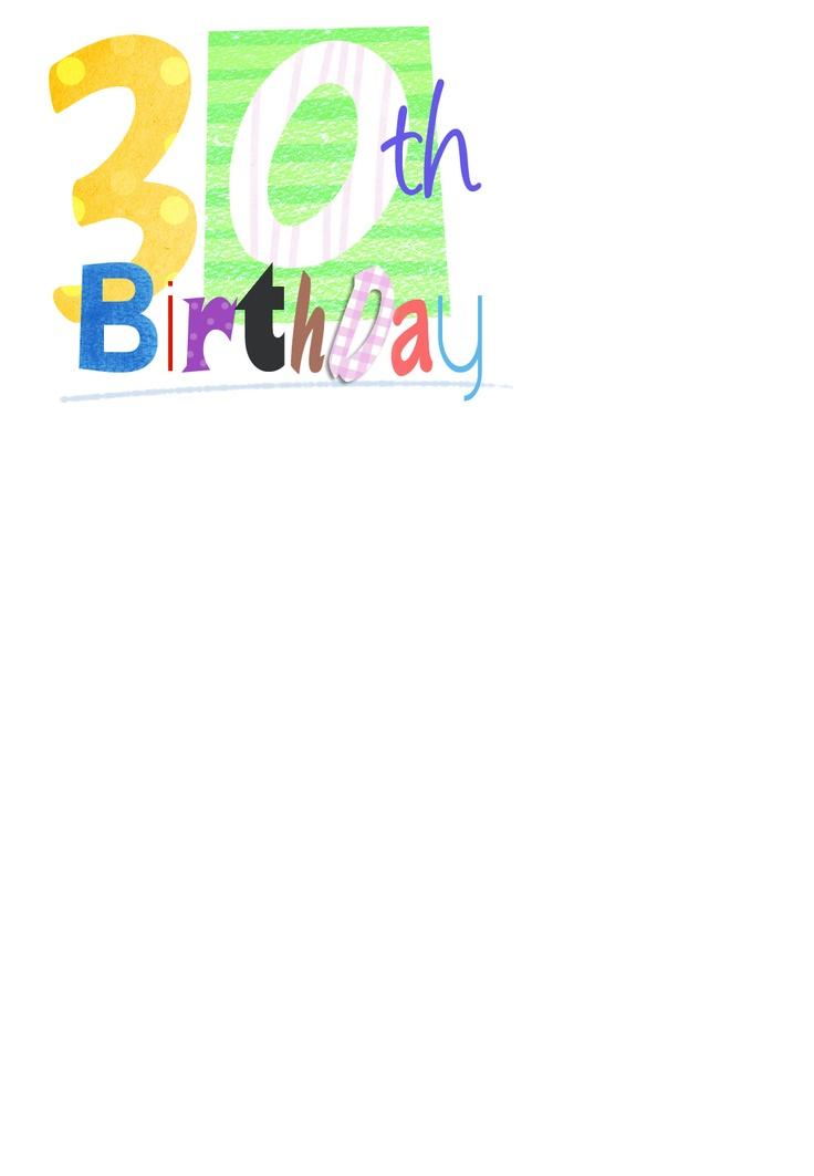 free printable 30th birthday invitations - 28 images - 30th birthday ...