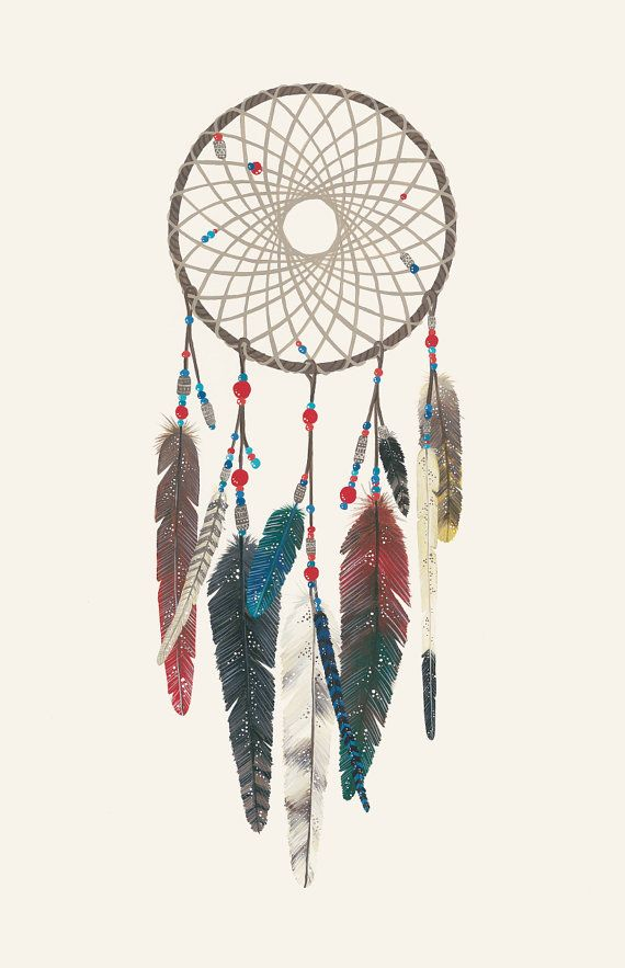 The Woven Web of Life Dreamcatcher print 11x17 inches $20.00