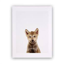 Wolf Pup Little Darling Photographic Art Print – 8.5 x 11
