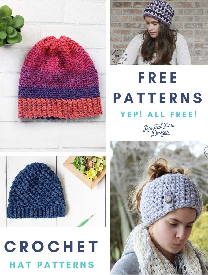 300f6ecb0a3 Make these crochet hat patterns for beginners to advanced crocheters which  are all FREE! These crochet hat patterns are all free and easy to make!