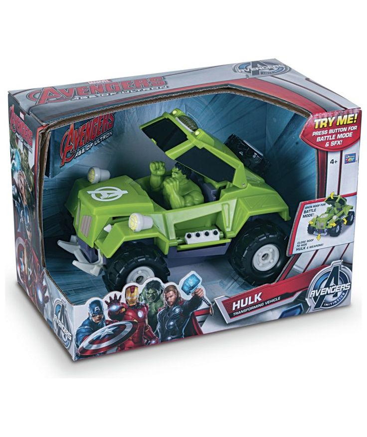 Buy Avengers Transforming Hulk Vehicle at Argos.co.uk - Your Online Shop for Toy cars, vehicles and sets.