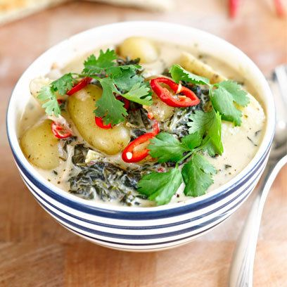 Lisa Faulkner's curly kale curry recipe. For the full recipe and more, click the picture or visit RedOnline.co.uk