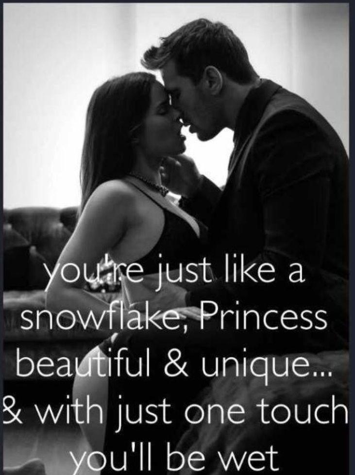 """""""Você é apenas como um floco de neve, princesa, bonita e original ... e com apenas um toque você estará molhada""""...(Noah & Olívia)."""