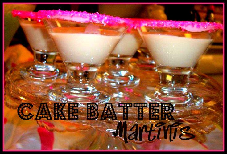 Cake Batter Martini Yum Yum x