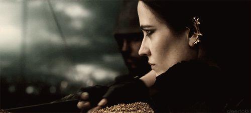 In Rise of an Empire,Eva Green plays Artemisia, a Persian commander.