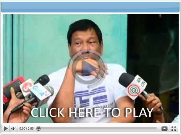 Rodrigo Duterte Interview - Pinoy Show Biz  Your Online Pinoy Showbiz Portal