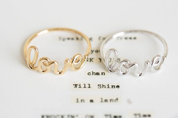 Just bought these for the girlfriend and I. Super cheap, super cute and matching love ring set.   love letter ring/love ring/womens ring//couple ring/unique ring/friendship ring/girls ring/best friend ring/cute ring,R035N on Etsy, $11.51 CAD