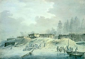 Habitations at Nootka Sound, British Library Picture Library
