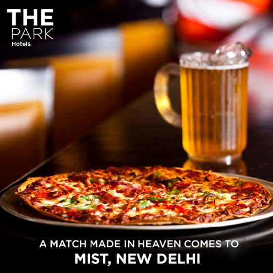 ‪#‎TheParkWay‬: Can you think of a combination better than a hot slice and a chilled pitcher? We sure can't! Mist's Beer & Pizza promotion is on all May!