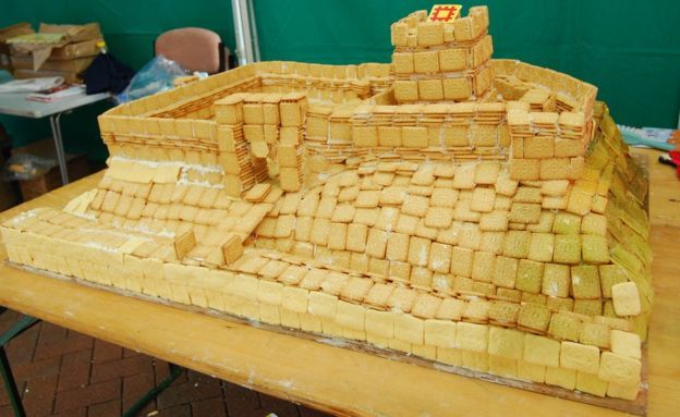 Carlisle Castle made from custard creams