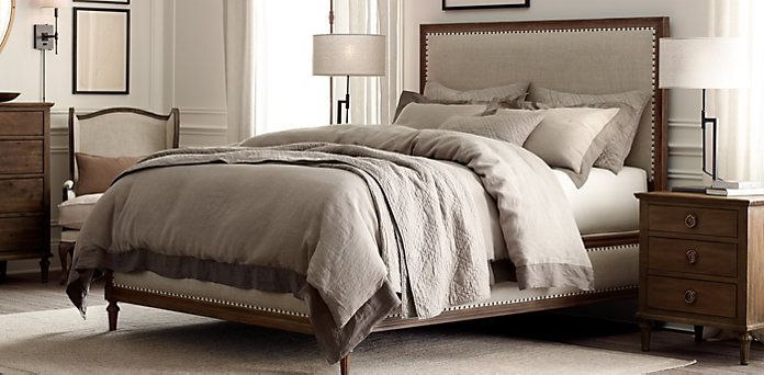 Or perhaps this one a good book fresh sheets and a glass for Restoration hardware bedside tables