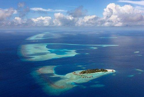 Maldivler'de bir ada