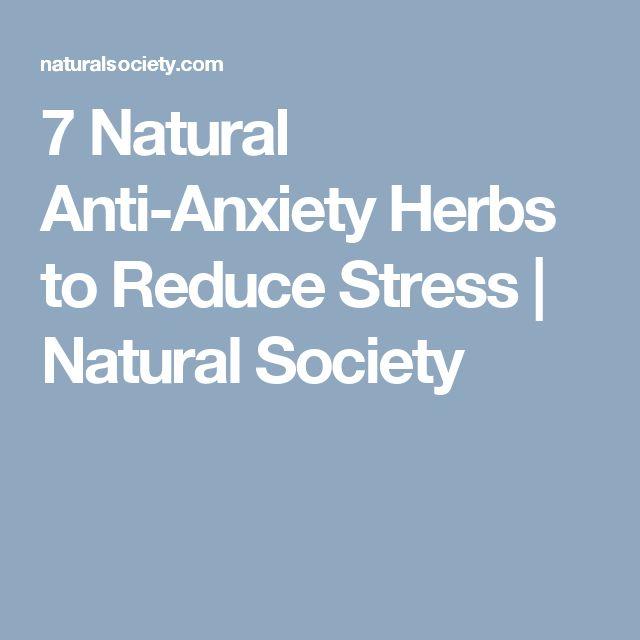 7 Natural Anti-Anxiety Herbs to Reduce Stress | Natural Society