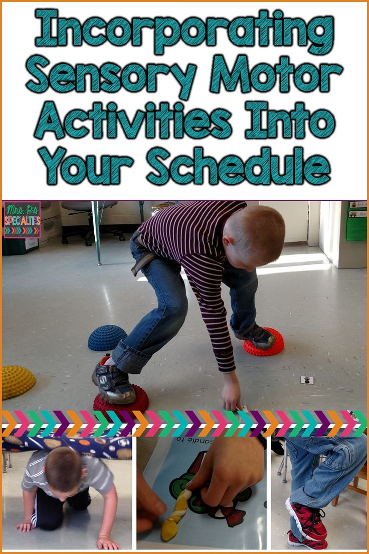 4 ideas for incorporating sensory motor activities into your school day in order to help students regulate their bodies and sensory systems.