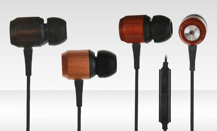 Groupon - $ 9.99 for iHip Wood Earphones with Mic in Cherry, Ebony, or Rose ($ 39.99 List Price). Free Returns.. Groupon deal price: $9.99