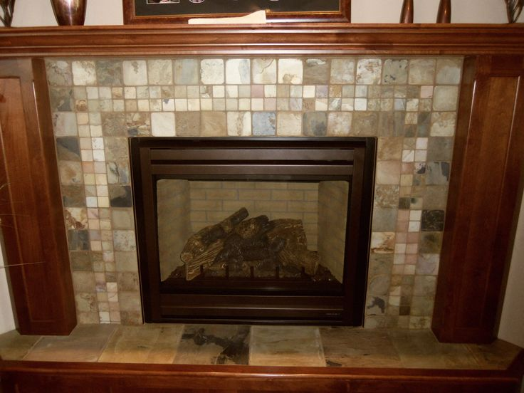 Natural Slate Fireplace Surround Installed By Jerry 39 S Flooring Center Tile Ideas Pinterest