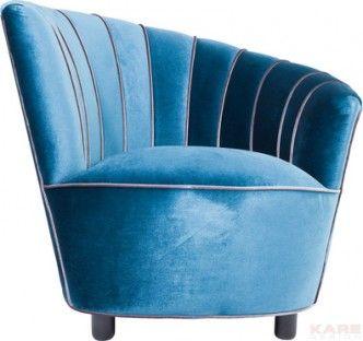 Fauteuil Pipe Blue is een schitternde stoel uit de collectie van Kare Design en is nu verkrijgbaar bij Furnies.nl voor €559,- !