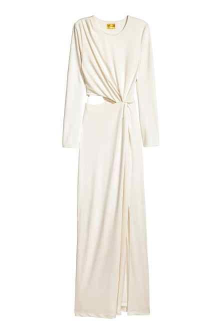 Платье макси с драпировкой
