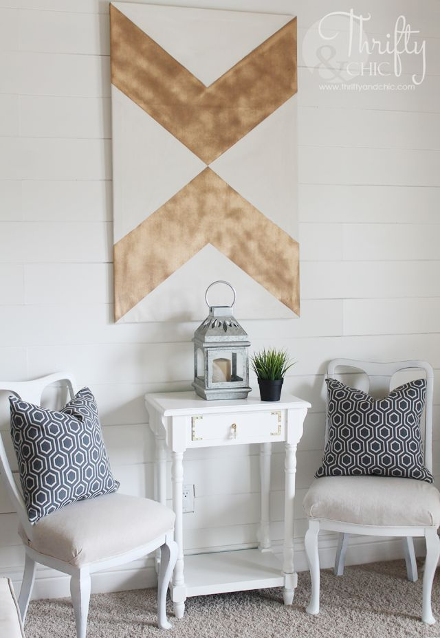DIY large canvas for under $5 and arrow art!
