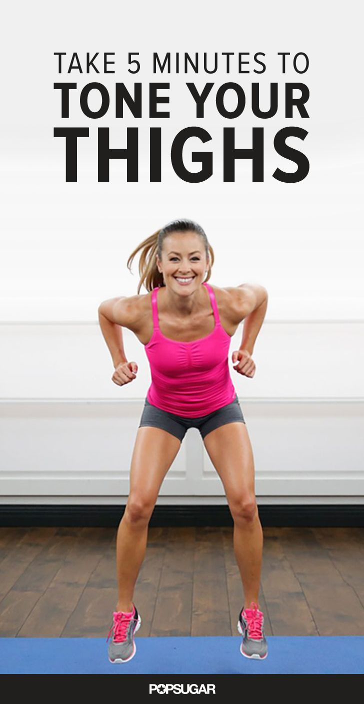 Strengthen and tone your thighs with this quick and effective 5 minute workout