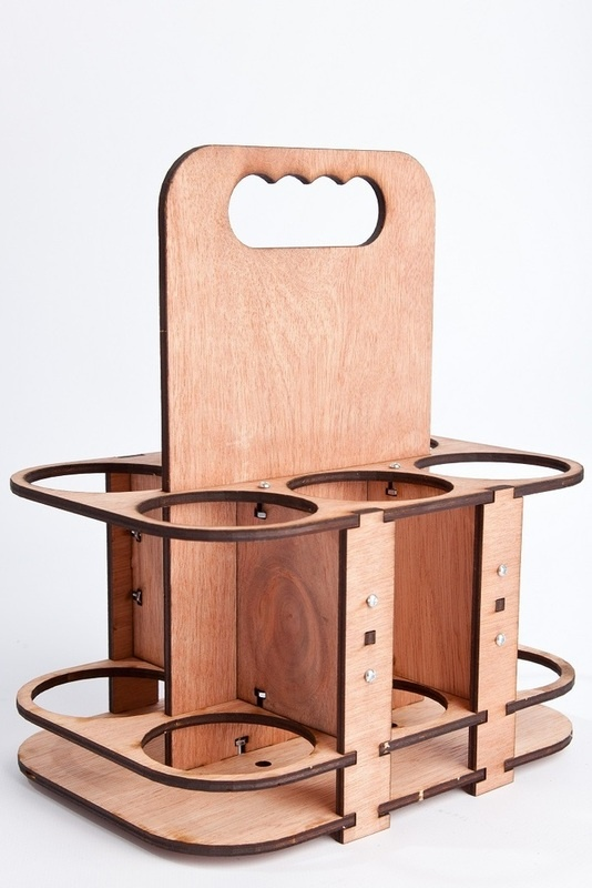 Laser cut Bottle Rack for the kitchen or to take to parties.