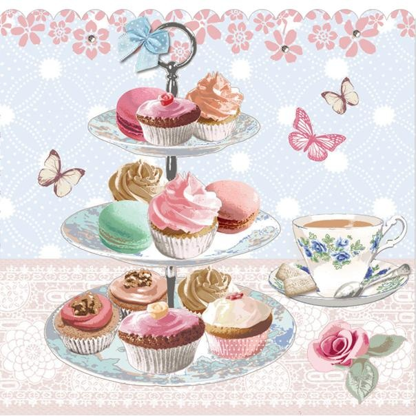 Kitchen Tea Background: Cupcake Art, Tea Art, Tea