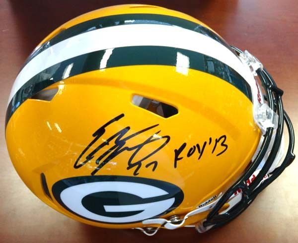"""Eddie Lacy Autographed Green Bay Packers Full Size Authentic Speed Helmet """"""""ROY '13"""""""" PSA/DNA Stock"""