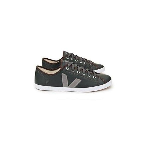 Veja Taua Fair Trade Leather Trainers ($120) ❤ liked on Polyvore featuring shoes, sneakers, women, veja, leather shoes, veja sneakers, tan leather shoes e leather sneakers