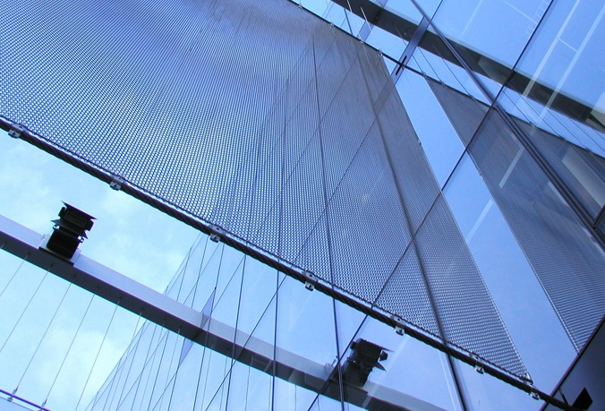 Marion Oliver McCaw Hall featuring a Cascade Coil wire mesh architectural panel.