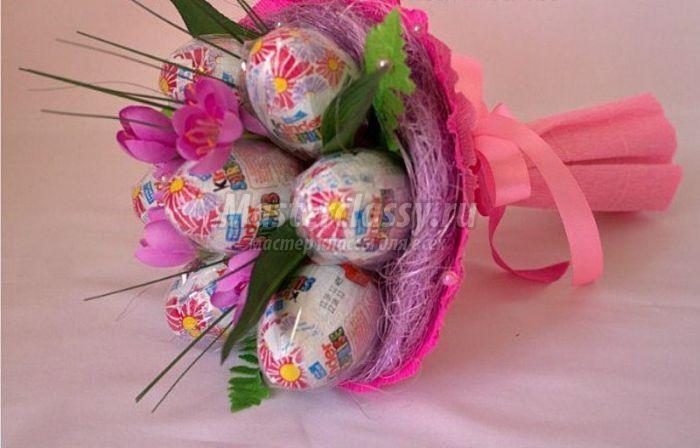 Букет из конфет для ребенка своими руками