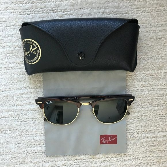 7d05b41344d78 Rayban Clubmaster Classic Tortoise Sunglasses Model code  RB3016 W0366 49-21  Ray-Ban