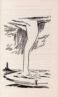 """Illustration by Tove Jansson from her short story, """"The Fillyjonk Who Believed in Disasters"""" (1963) via thisbeautifulhunger (blogspot)"""