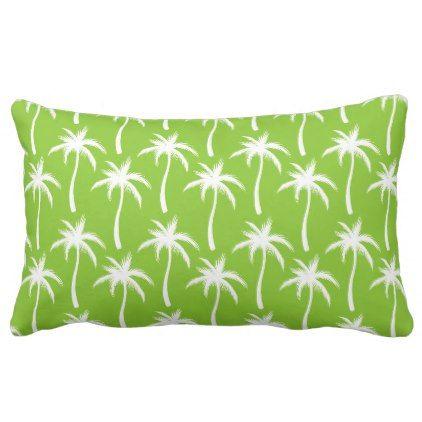 White Palm Trees - Tropical Pillow - decor gifts diy home & living cyo giftidea