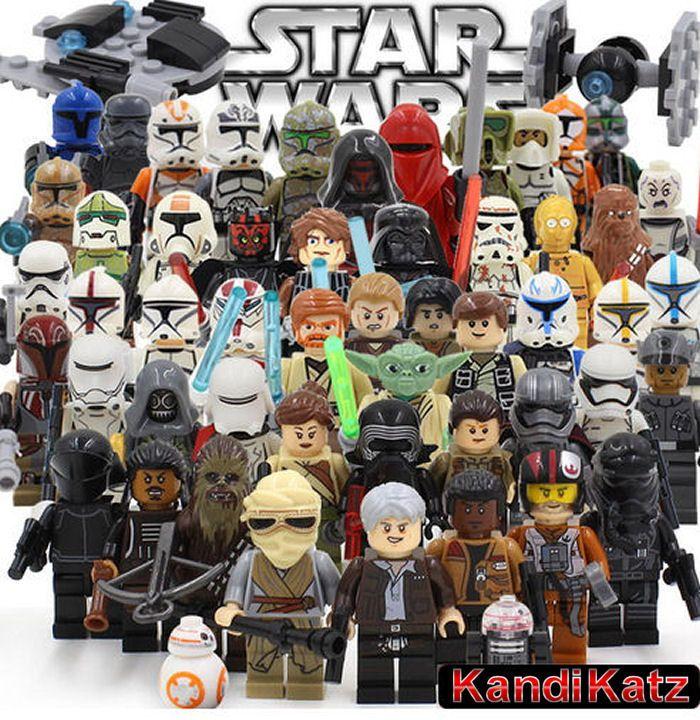 Custom Mini Figures,Block Toys,Cake Topper,Star Wars Minifigures,Darth Vader,Boba Fett,Han Solo,Luke Skywalker,Stormtroopers,Yoda,Clone Wars by KandiKatz on Etsy