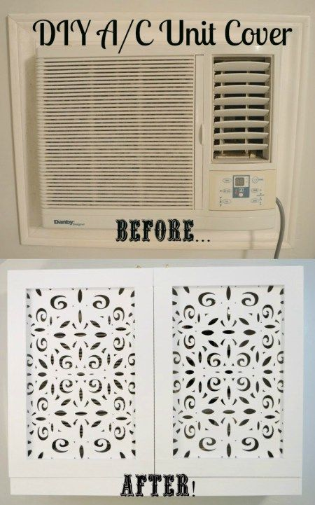 Bedroom Makeover Part 6 – DIY A/C Unit Cover | VintageMeetsGlam
