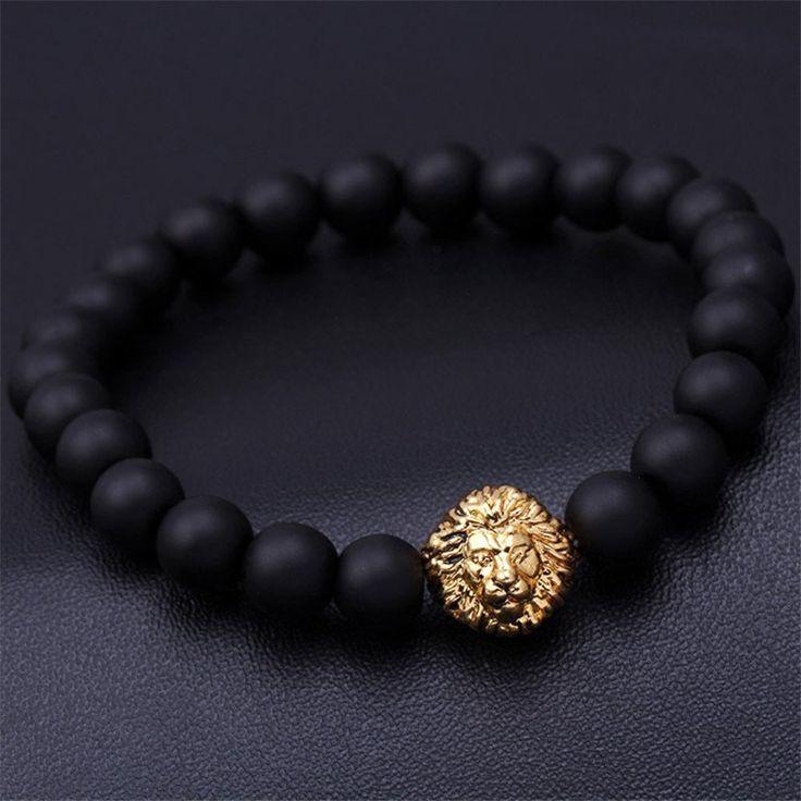 Mens Bead Charm Bracelet Buddha Bracelets Paracord Natural Stone