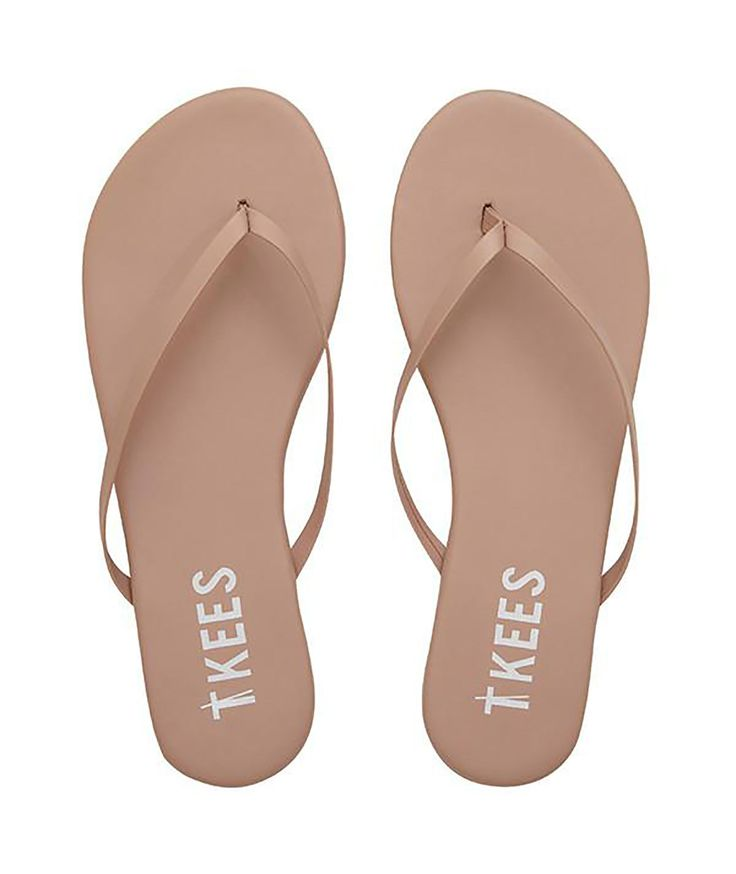 Tkees Womens SPF 30 Nude Flip Flops