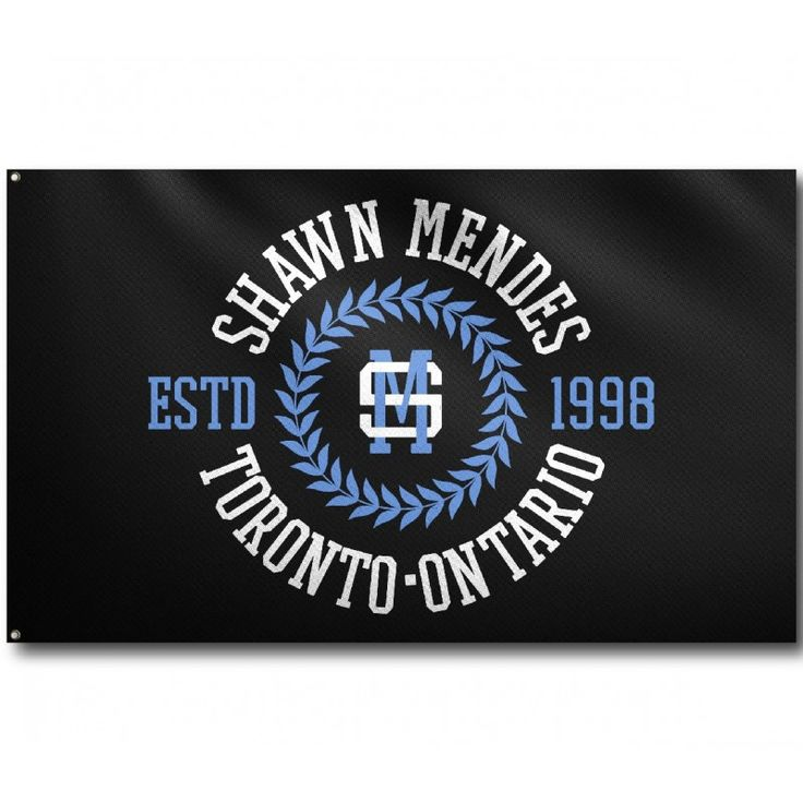 College Seal Shawn Mendes Toronto Flag -                      Pinterest: kbradley1601