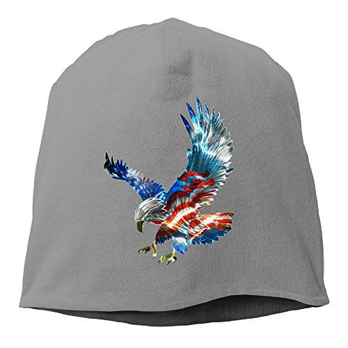 American Flag Eagle Print Women Knit Hat Soft Stretch Beanies Skull Cap  DeepGrey    You d17d1bec947b
