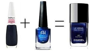 Misturinha para Chanel Azul Satin Impala + New York Ana Hickmann = Blue Satin Chanel