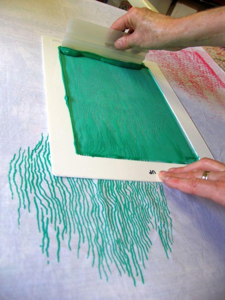 Linda Stokes Textile Artist: thermofax printing tutorial