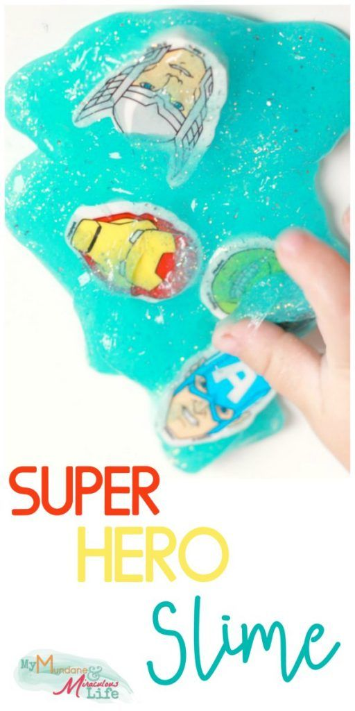 superhero slime recipe in two minutes flat