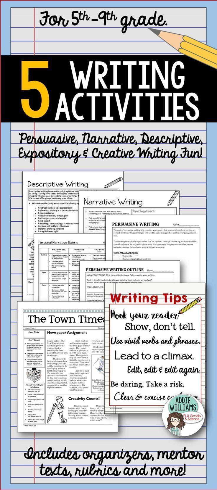 17 best ideas about descriptive writing activities writing pack for grades 5 9 includes everything you need to teach your students