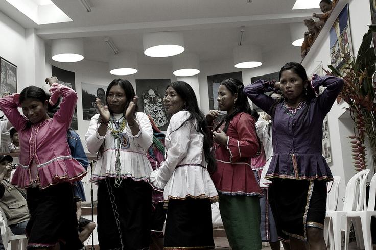 4. La comunidad indígena de Trujillo participa de la peregrinación. Crédito: Rodrigo Grajales.