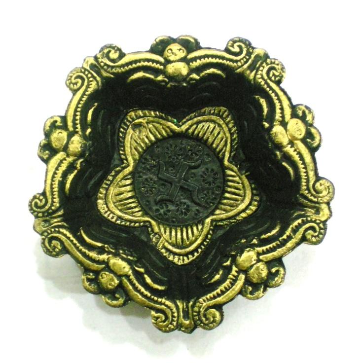 Antique Gold Look Round Diya